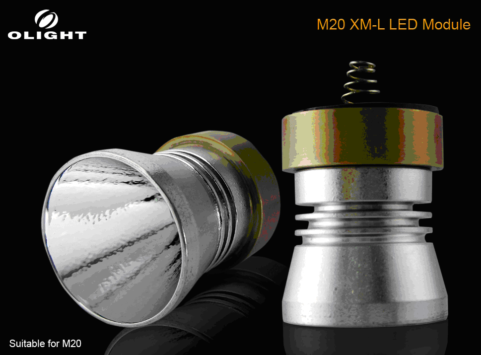Olight M20 XML U2 LED Module - Fits the Olight M20 Q5, R2, R5, S2 LED flashlights
