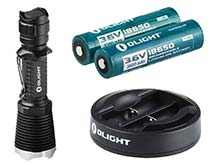 Olight M23 Javelot Flashlight w/ Omni-Dok - CREE XP-L LED  - 1020 Lumens - Uses 2 x CR123A or 1 x 18650 (2 Included)
