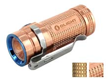 Olight S Mini Baton Flashlight - CREE XM-L2 Cool White LED - 550 Lumens - Special Edition Copper Body - Uses 1 x CR123A (Included) or 1 x 16340 - Copper