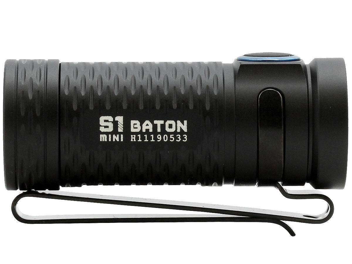 Side Shot of the Olight S1 MINI Baton EDC Flashlight