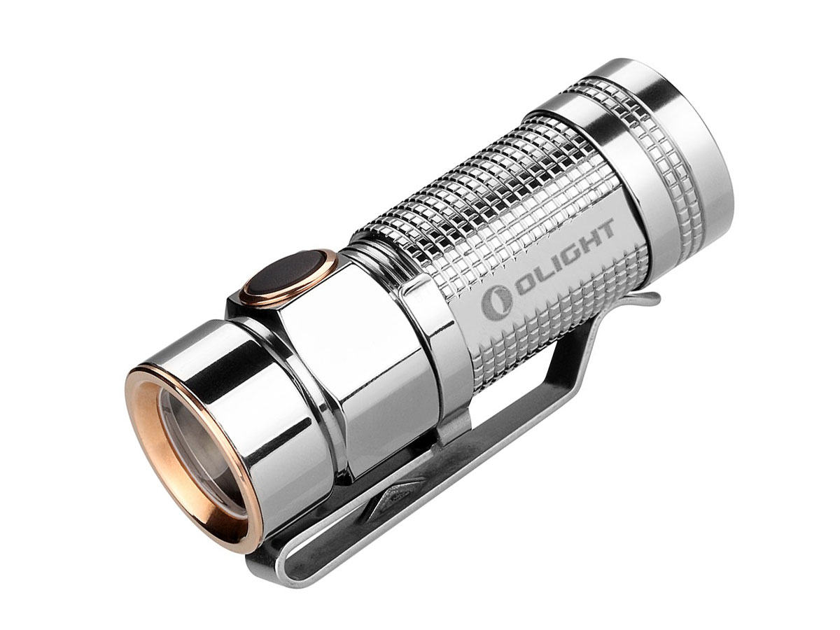 Olight S1 Baton Flashlight - With CREE XM-L2 NW LED - 480 Lumens -SPECIAL TITANIUM BODY EDITION Uses 1 x RCR123A or 1 x CR123A
