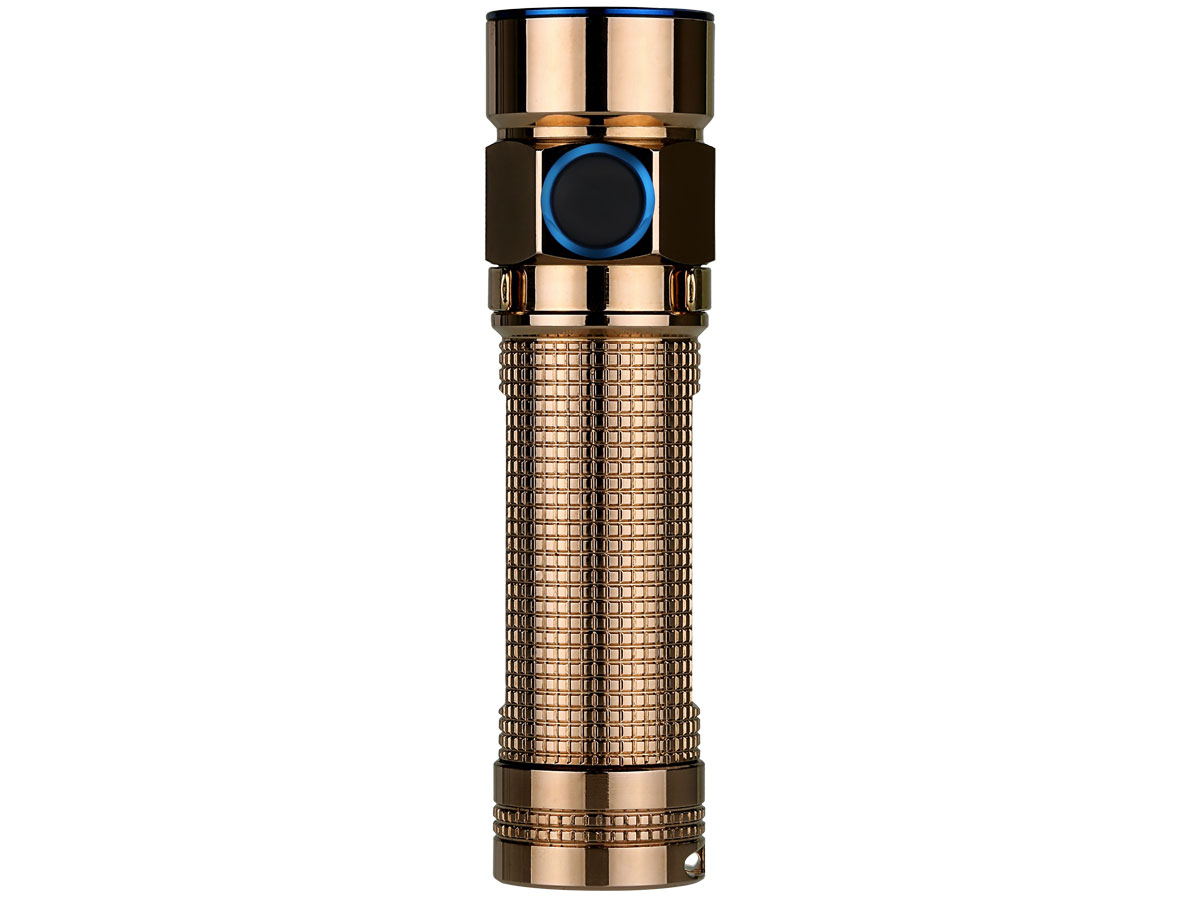 Olight S1A Baton (Limited Edition) Copper Flashlight - CREE XM-L2 LED - 600 Lumens - Uses 1 x 14500 or 1 x AA (Included) - Rose Gold or Raw Copper Finish