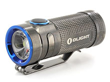 Olight S Mini Baton (Limited Edition) Stainless Steel Flashlight - CREE XM-L2 Cool White LED - 550 Lumens - Uses 1 x CR123A (Included) or 1 x 16340 - Black