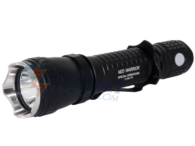 Olight M20S Special Ops S Warrior Tactical LED Flashlight with CREE XP-G Gen2 R5 LED 420 Lumens - Uses 2 x CR123A or 1 x 18650
