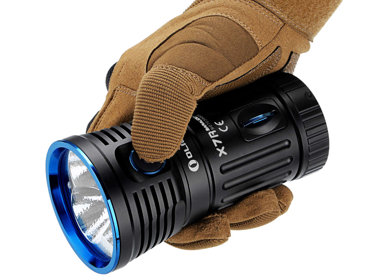Olight X7R Being Operated While Wearing Gloves