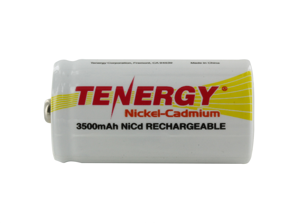 Tenergy 20400 C-cell 3500mAh 1.2V Nickel Cadmium (NiCd) Button Top Battery - Bulk