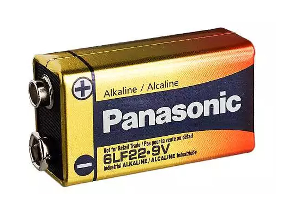 panasonic industrial 6lf22xwa 9v alkaline battery with snap connector bulk. Black Bedroom Furniture Sets. Home Design Ideas