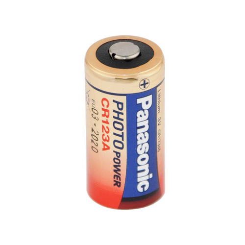 Panasonic CR123A 1550mAh 3V Lithium (LiMnO2) Button Top Photo Batteries - Shrink Wrapped