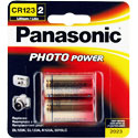 Panasonic CR123A (2PK) 1550mAh 3V Lithium (LiMnO2) Button Top Photo Batteries - 2 Piece Retail Card