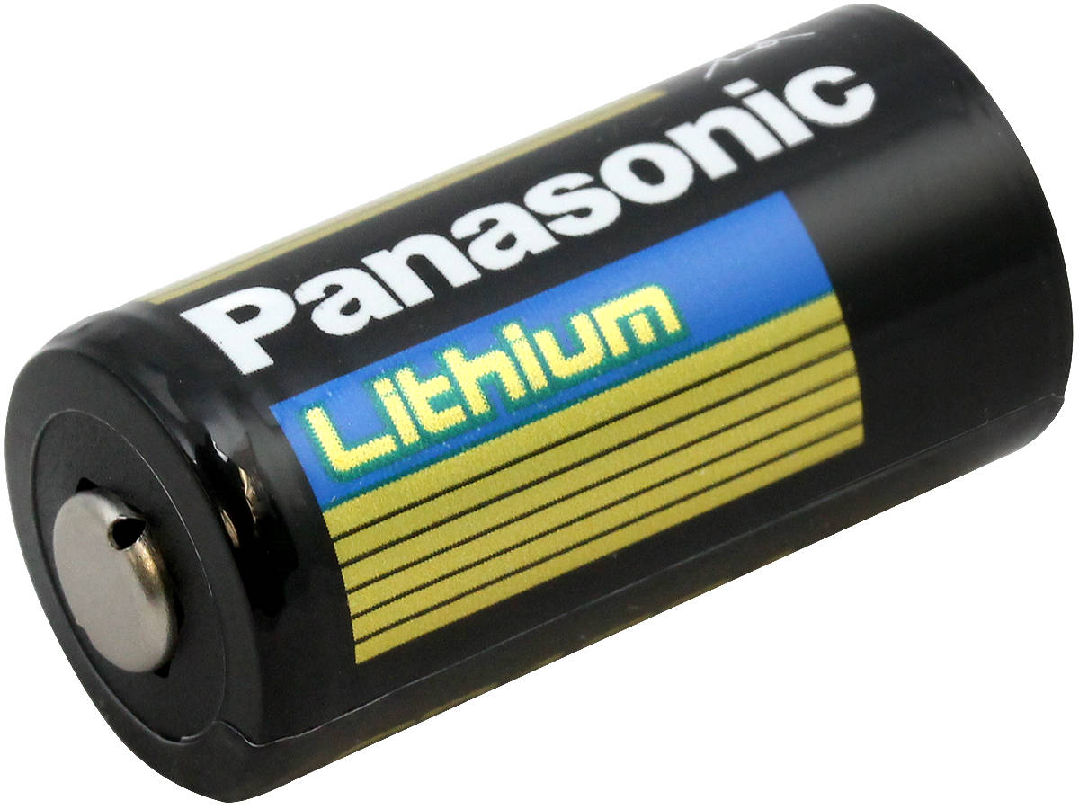 Panasonic CR123A (2400PK) 1550mAh 3V Lithium Primary (LiMNO2) Button Top Photo Batteries - Case of 2400