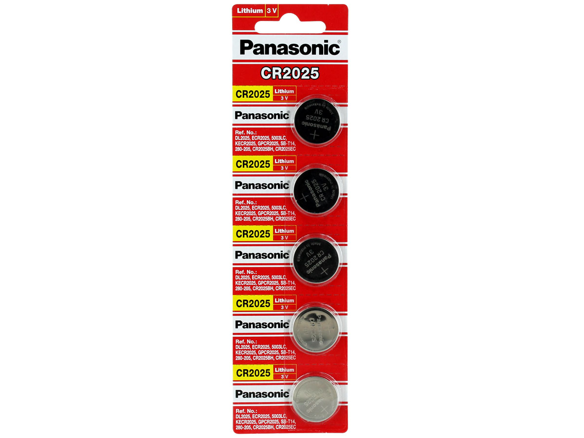 Panasonic Cr2025 165mah 3v Lithium Limno2 Coin Cell