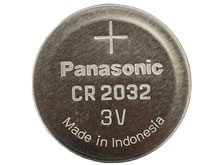 Angled shot of Panasonic CR2032 battery