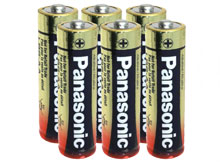Panasonic Industrial LR6XWA AA 1.5V Alkaline Button Top Batteries - 6 Pack Shrink Wrap (66 Shrink Packs per Case)
