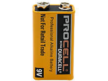 Duracell Procell PC1604 9V Alkaline Battery with Snap Connectors - Retail Packaging
