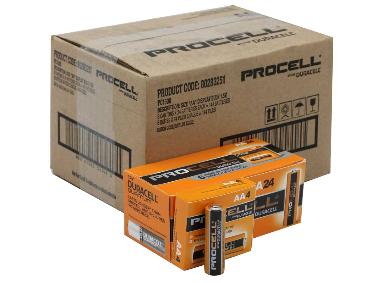 Box of 144 AA Batteries