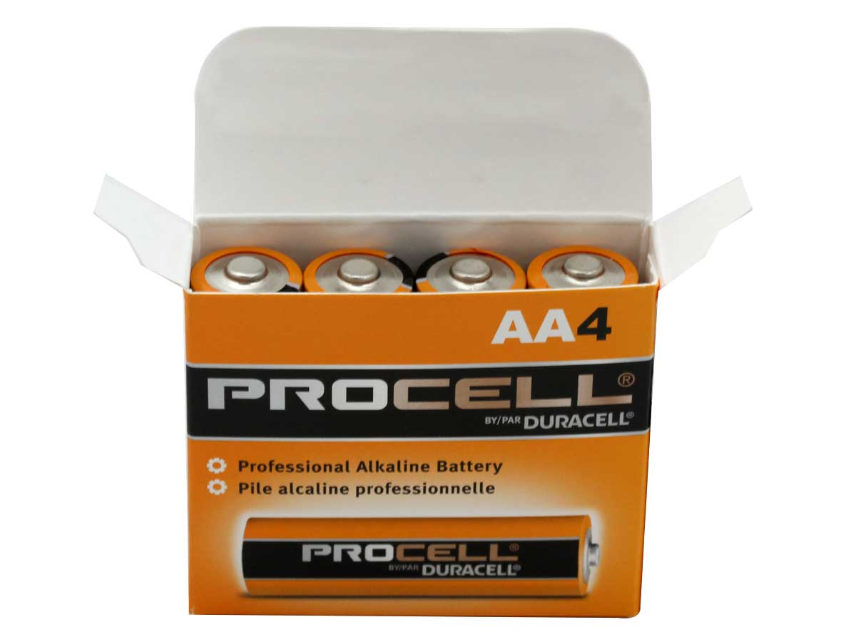Open Box of 4 Batteries