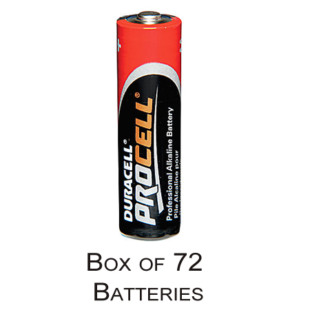 Duracell Procell AAA Alkaline Battery - Box of 72 (PC2400 PC-2400)