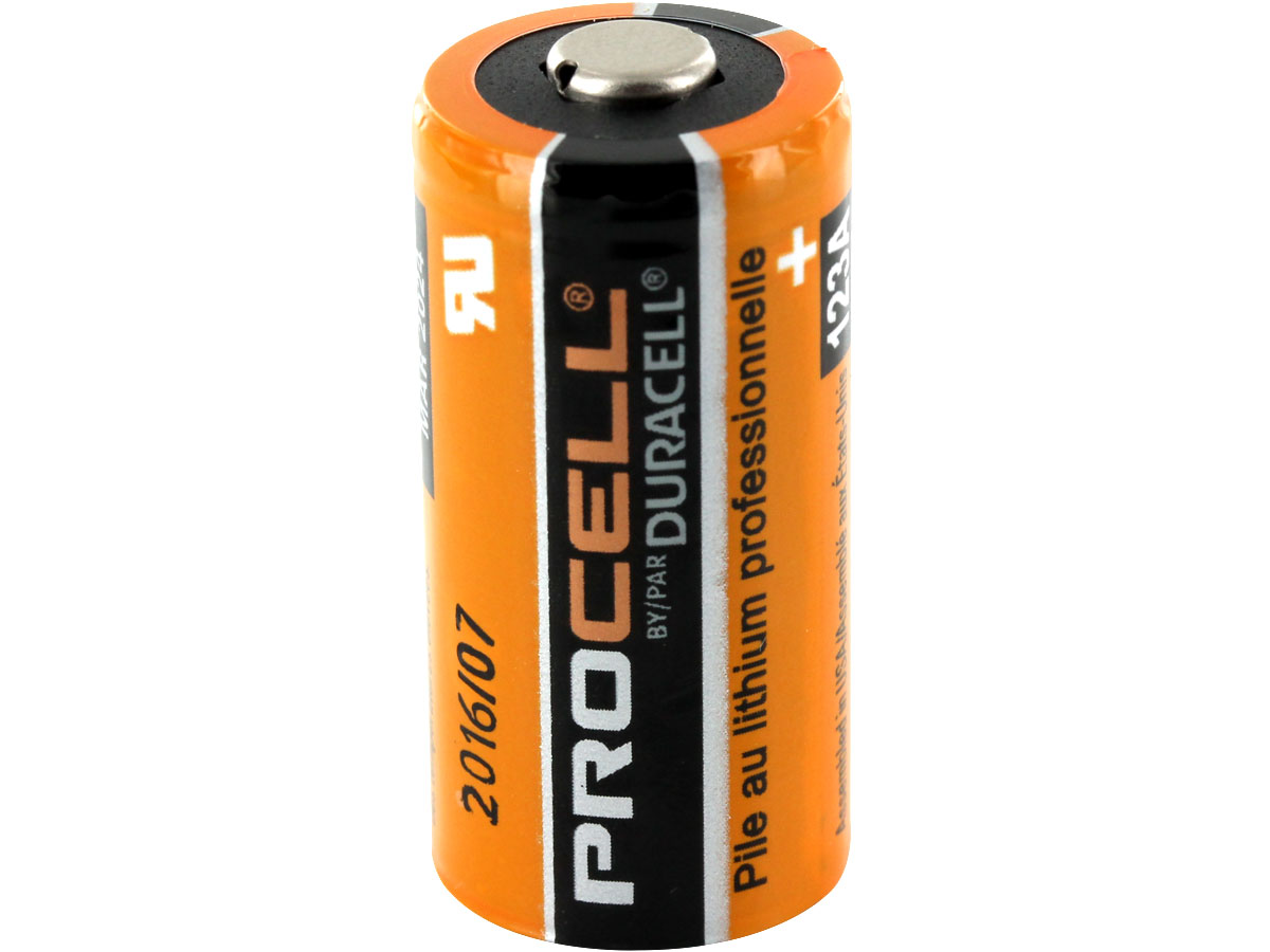 Duracell Procell PL CR123A (400PK)  1400mAh 3V Lithium Primary (LiMNO2) Button Top Batteries - Box of 400