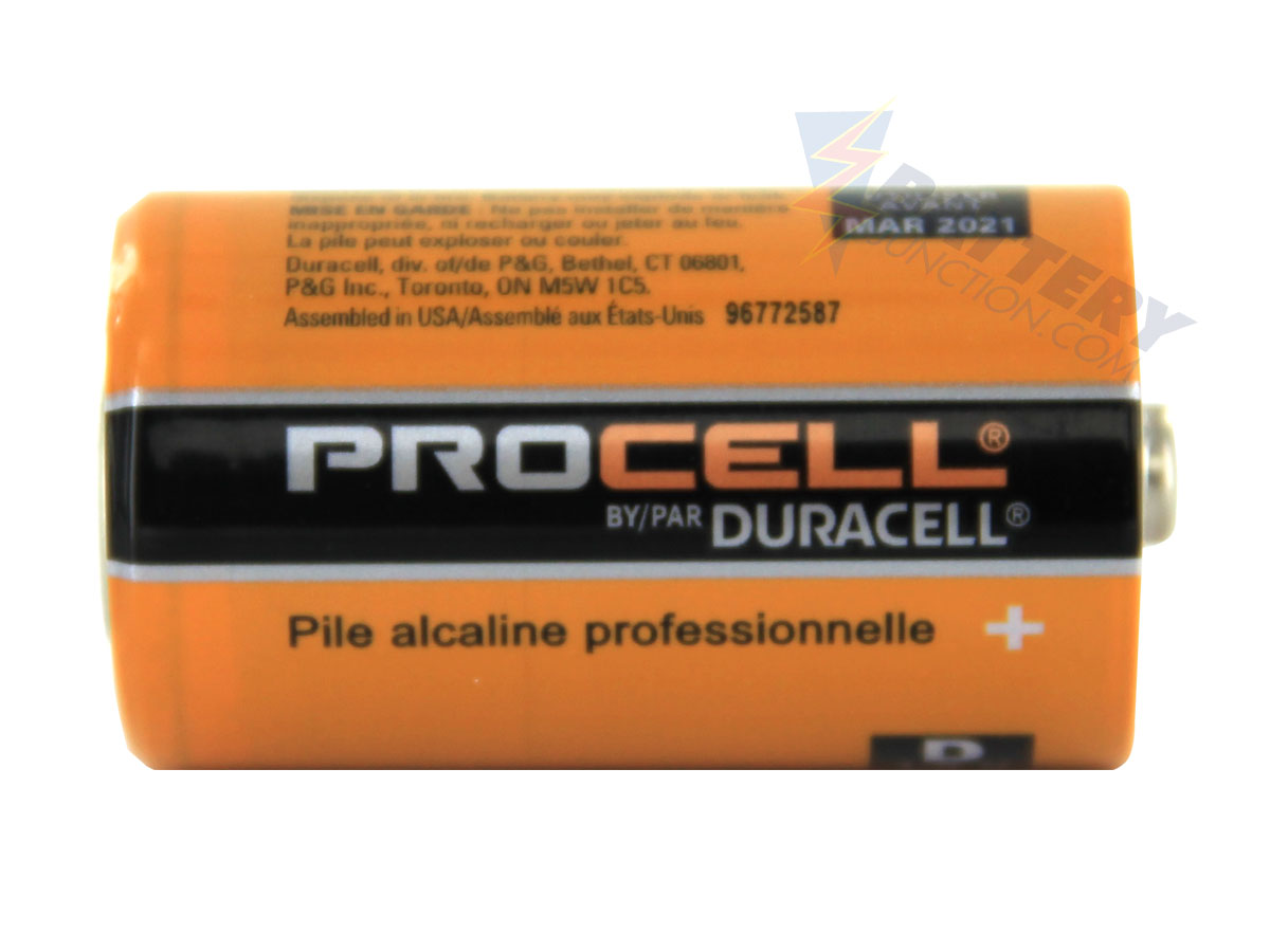 Duracell Procell PC1300 (12PK) D-cell 1.5V Alkaline Button Top Batteries - Box of 12