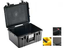Pelican Air 1557 Watertight Protector Case - Available with Foam or Dividers - 19.2 x 15.8 x 10.5-inches - Black