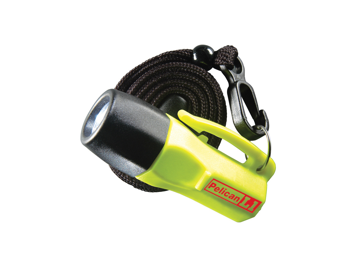 Pelican L1 1930 LED Flashlight with Safety Lanyard - 12 Lumens - Class I Div 1 - Includes 4 x LR44 Coin Cells - Multiple Colors