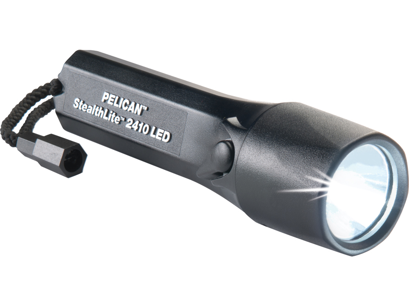 Pelican StealthLite 2410 LED Flashlight - 72 Lumens - Includes 4 x AAs - Black (2410-015-110)