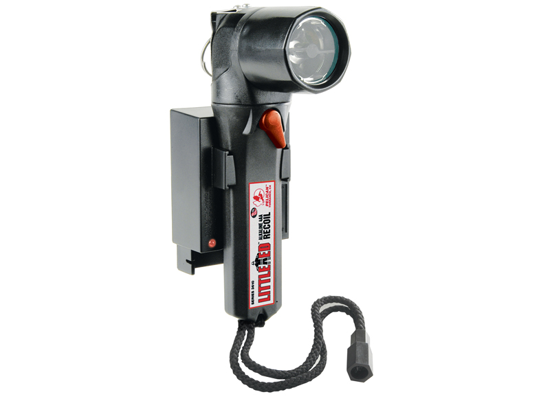 Pelican Little Ed 3660 Rechargeable Right Angle LED Flashlight - 40 Lumens - Includes 4 x NiMH AAs and Charger - Black (3660-010-110)