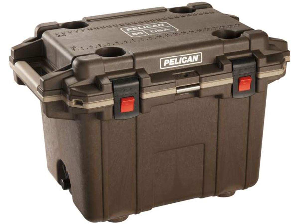 Pelican 50Q Elite Cooler - 50 Quart - White, Tan, OD Green or Brown