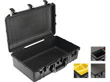Pelican 1555 AIR Watertight Case with Logo - Black - Multiple Inserts Available