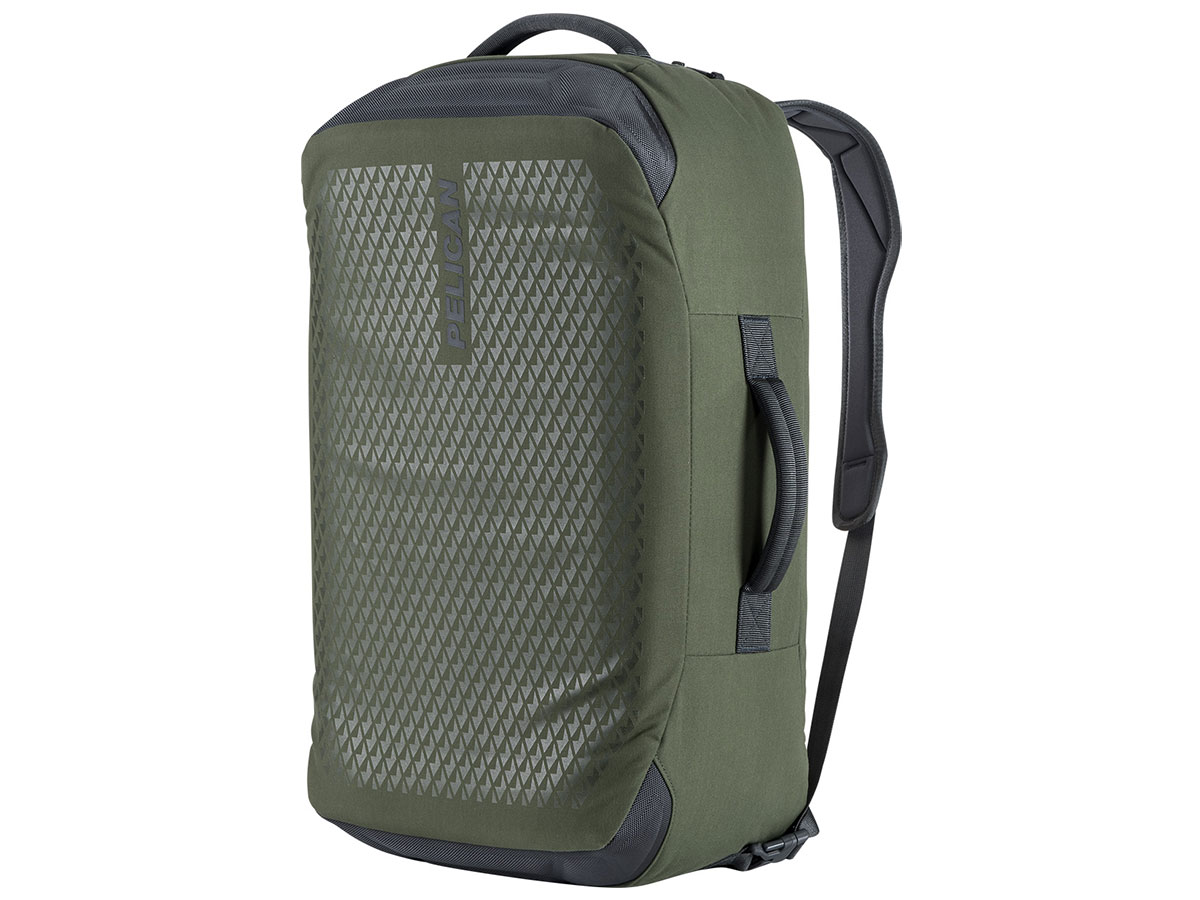 Green Upright Duffel Bag / Backpack