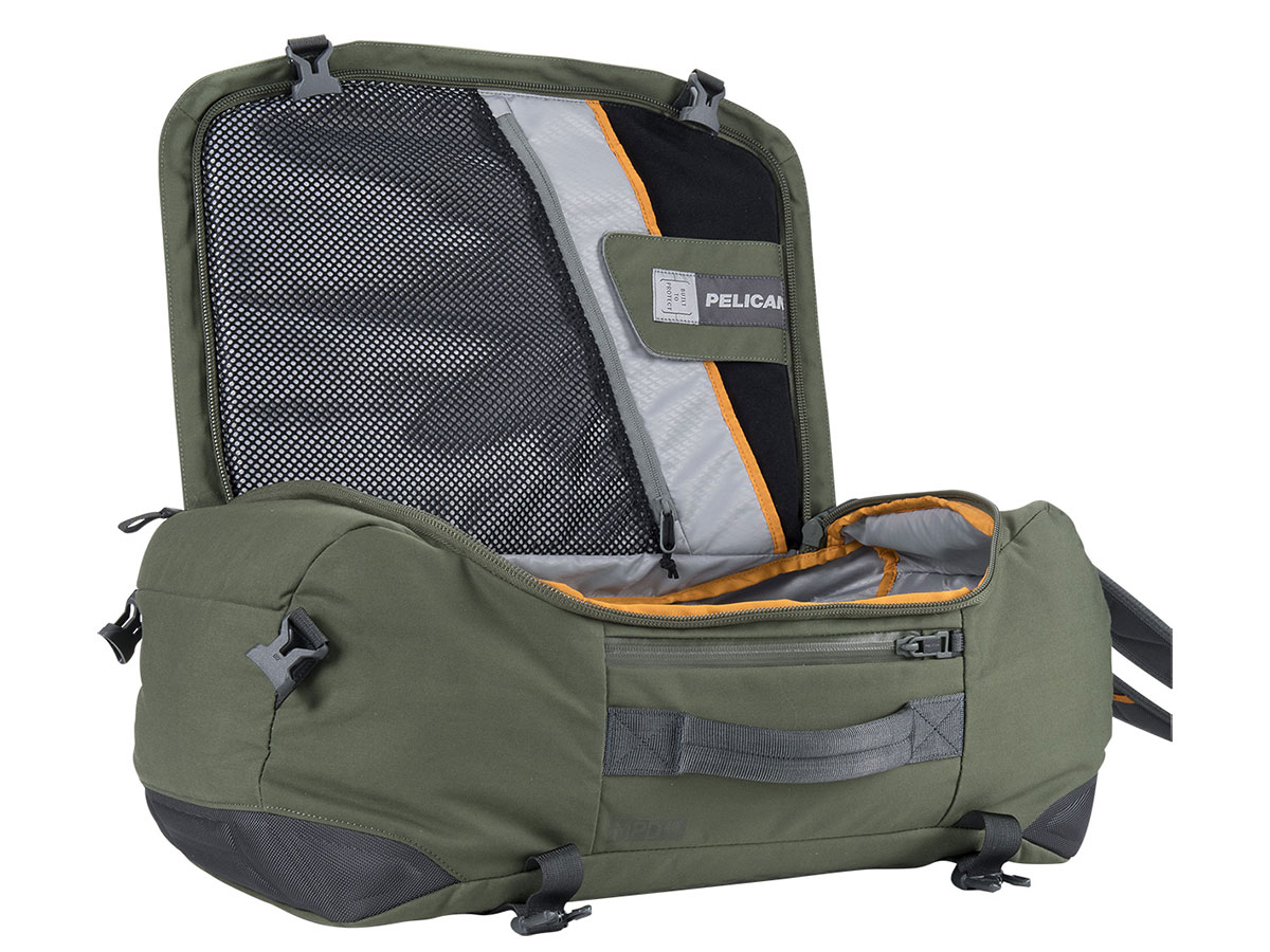 Interior of Green Duffel Bag