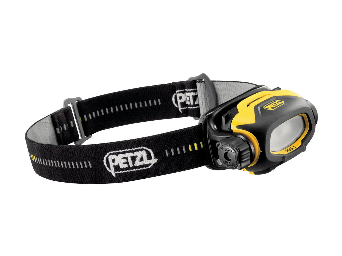 Petzl Compact Rugged PIXA 1 LED Headlamp - 60 Lumens - HAZLOC Class I, Div 1 and 2 Certified - Includes 2 x AA/LR6s (E78AHB-2UL)