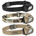 Petzl Ultra Compact TACTIKKA + LED Headlamp - White and Red LEDs - 160 Lumens - Includes 3 x AAA/LR3s - Black or Desert (E89AHB)