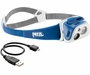 Petzl Classic TIKKA R+ USB Rechargeable LED Headlamp with Reactive Lighting - Red and White LEDs - 170 Lumens - Includes Li-ion Battery - Coral (E92-RC)