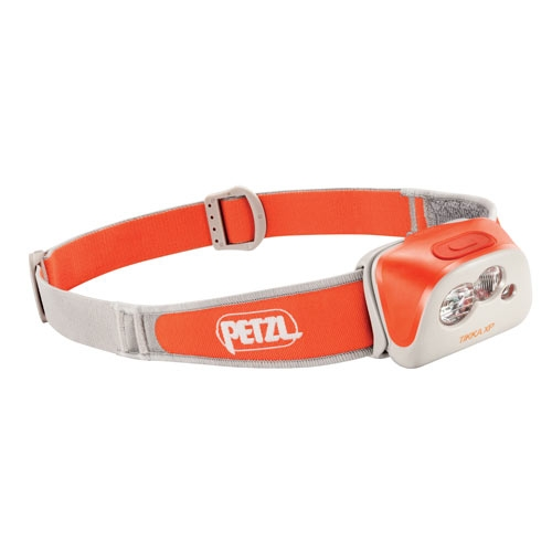 Petzl Active TIKKA XP Multi-Beam LED Headlamp - Red and White LEDs - 160 Lumens - Includes 3 x AAA/LR03s - Coral (E99HC)