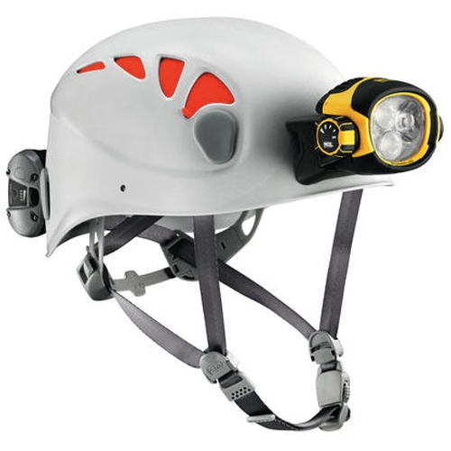 Petzl Specialized TRIOS Caving Helmet with Ultra Vario Multi-Beam LED Headlamp, Size 1 or 2 - 520 Lumens - Includes Li-ion Battery Pack (E54AW)