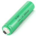 Powerizer MH 7/5 A 3800mAh 1.2V Nickel Metal Hydride (NiMH) Flat Top Battery with or without Tabs - Bulk