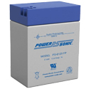 Power-Sonic AGM General Purpose PS-6120 13Ah 6V Rechargeable Sealed Lead Acid (SLA) Battery - FP Terminal