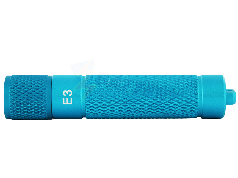 PowerTac E3 LED Flashlight with Blue Finish 90 Lumens CREE XP-G (R5) - Uses 1 x AAA (Blue Finish)
