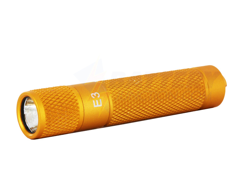 PowerTac E3 LED Flashlight with Gold Finish 90 Lumens CREE XP-E - Uses 1 x AAA (Gold Finish)