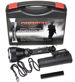 PowerTac Spartacus XLT LED Flashlight - 800 Lumens - Uses 3 x CR123A