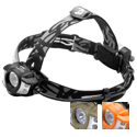 Princeton Tec Apex Pro Headlamp - 4 x Ultrabright LEDs, 1 x Maxbright LED - 350 Lumens - Includes 2 x CR123As - Black, Olive Drab or Orange