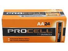 Duracell Procell PC1500 (24PK) AA 1.5V Alkaline Button Top Batteries - Box of 24