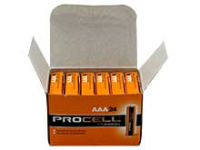 Duracell Procell PC2400 (24PK) AAA 1.5V Alkaline Button Top Batteries - Box of 24