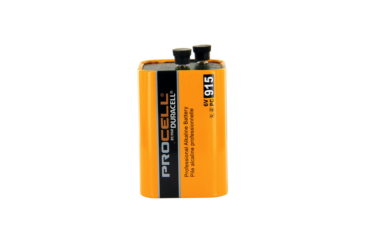 Duracell Procell 6.0V Alkaline Lantern Battery - Screw Terminals (PC915 PC-915)