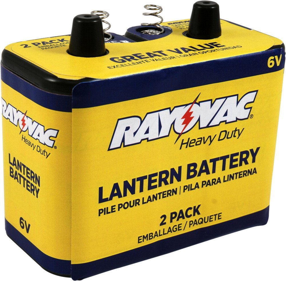 Rayovac 944-2R 8601mAh 6V Carbon-Zinc Heavy-Duty Lantern Battery with Spring Terminals - Boxed