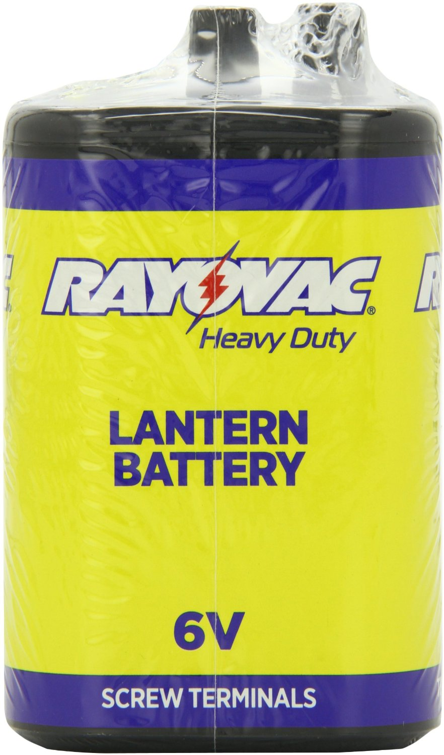 Rayovac 945R4 9700mAh 6V Zinc Chloride (ZnCl) Heavy-Duty Lantern Battery with Screw Terminals - Shrink Pack