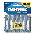 Rayovac 815-18F (18PK) AA 1.5V Alkaline Button Top Batteries - 18 Pack Resealable Card