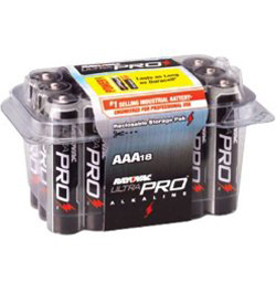 Rayovac Ultra Pro AL-AAA-18 1.5V Alkaline Button Batteries - 18 Pack