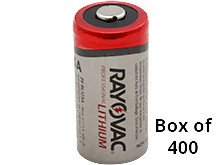 Rayovac RL CR123A (400PK) 1400mAh 3.0V Lithium Primary (LiMNO2) Button Top Photo Batteries - Box of 400